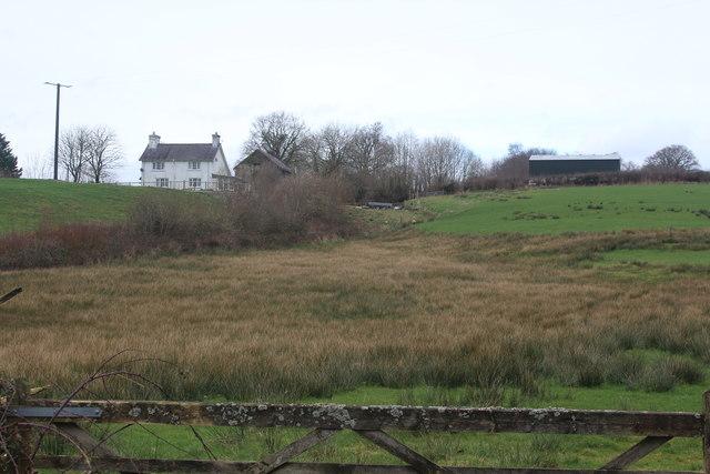 Farm overlooking Cil-y-cwm Road