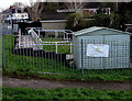 ST3089 : 3D Learning Solutions banner on railings, Blaen-y-pant, Newport by Jaggery