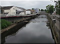 SS9079 : Weir in the River Ogmore, Bridgend by Jaggery