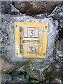 SH6268 : Hydrant marker on Stryd Fawr, Rachub by Meirion