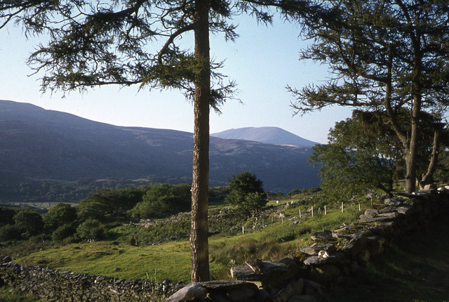 View to Artro Valley from outside the former Gerddi Bluog Youth Hostel
