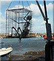 SX9256 : Skeleton in cage, Brixham by Derek Harper