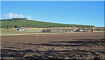 NJ1366 : Ploughed Land at Roseisle by Anne Burgess