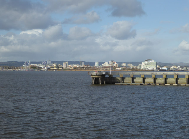 Cardiff Bay from the end of the barrage