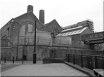 TQ3878 : On the Thames Path at Greenwich Power Station by Eirian Evans