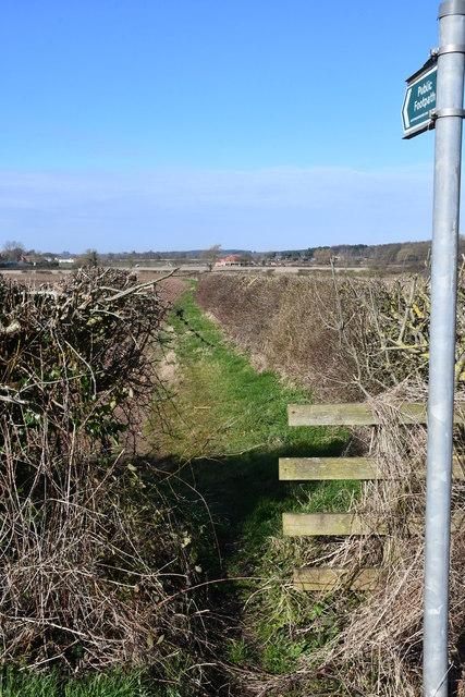 Footpath near Bevercotes
