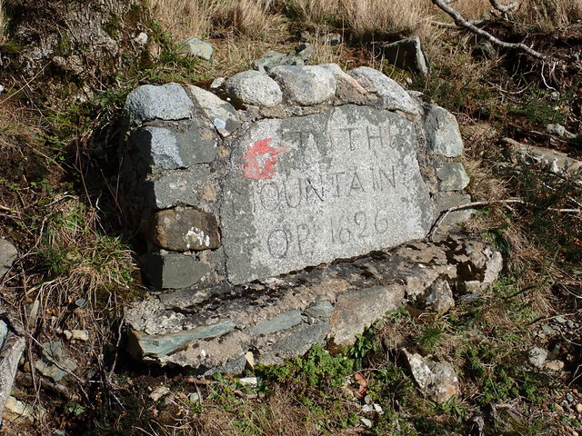 A 19th century direction sign at the bottom end of a carriage trail leading to the summit of Curraghard Mountain