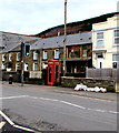 SS9498 : Red phonebox, Bute Street, Treherbert by Jaggery