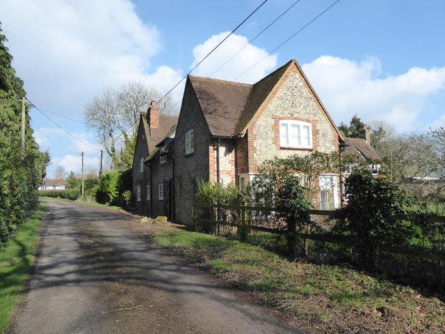 The Tiled House, opposite Baydon Manor