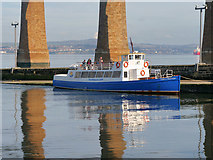 NT1378 : Cruise Boat at Hawes Pier by David Dixon