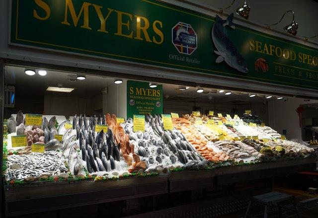 S Myers, Seafood Specialist, Leeds Market