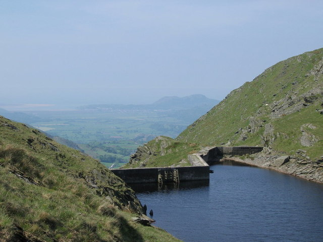 The dam of the Llyn Cwm y Foel above Croesor