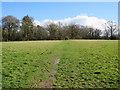 TQ5641 : Footpath across a field near Southborough by Malc McDonald