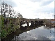 SE2119 : Railway bridge over the River Calder, Mirfield by JThomas