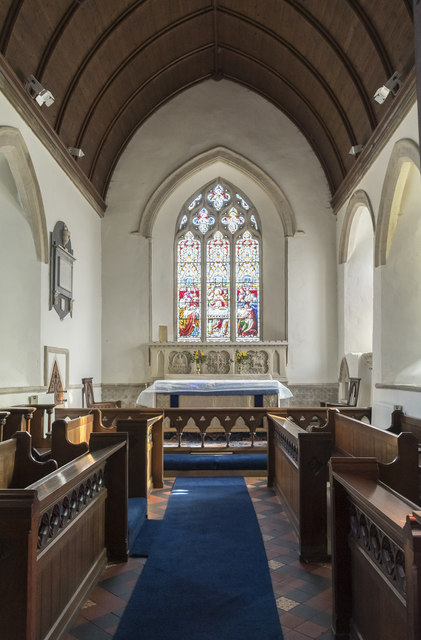 Chancel, St Thomas à Becket church, Greatford