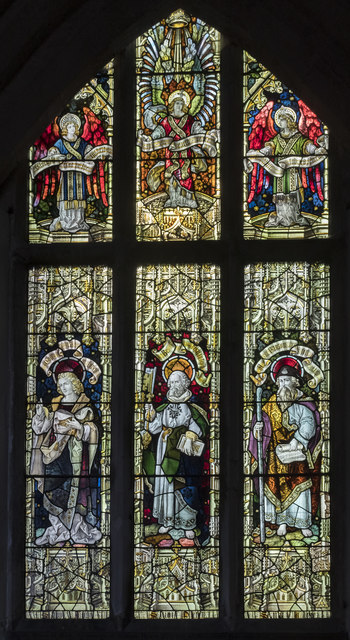 Stained glass window, St Thomas à Becket church, Greatford