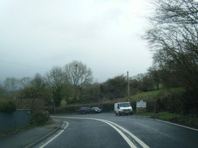 A46 at Nailsworth boundary near Harleywood