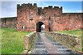 NY3956 : Carlisle Castle, De Irebys Tower by David Dixon