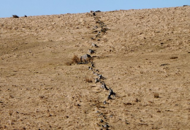 Upper Erme prehistoric stone row