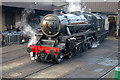 SE0337 : A 'Black 5' simmering on shed by Chris Allen