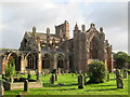 NT5434 : Melrose  Abbey  from  Borders  Abbeys  Way  (2) by Martin Dawes