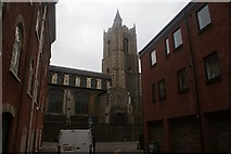 TG2208 : View of St. Laurence's Church from Coslany Street by Robert Lamb