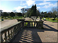 SJ8640 : Trentham Gardens: balustrade above the Italian garden by Stephen Craven