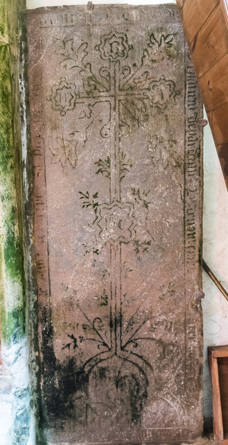 Incised slab, St Thomas à Becket church, Greatford