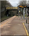 SS9596 : A4061 Station Road railway bridge, Treorchy by Jaggery