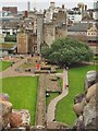 ST1876 : View from Cardiff Castle Keep by Graham Hogg
