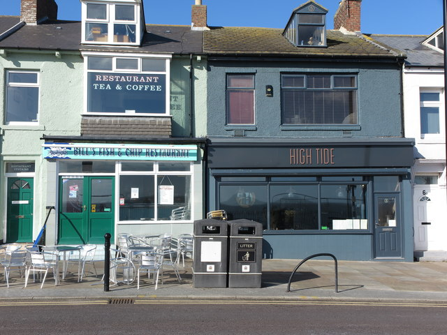 Bill's Fish & Chips & High Tide (Cafes) Victoria Crescent Cullercoats