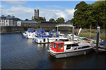 R5757 : Boats moored on the River Shannon by N Chadwick