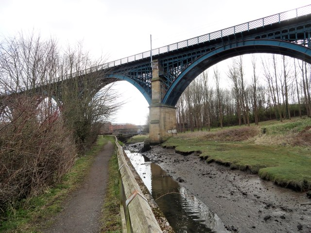 Willington Gut and the viaduct