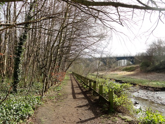 View along Willington Dene