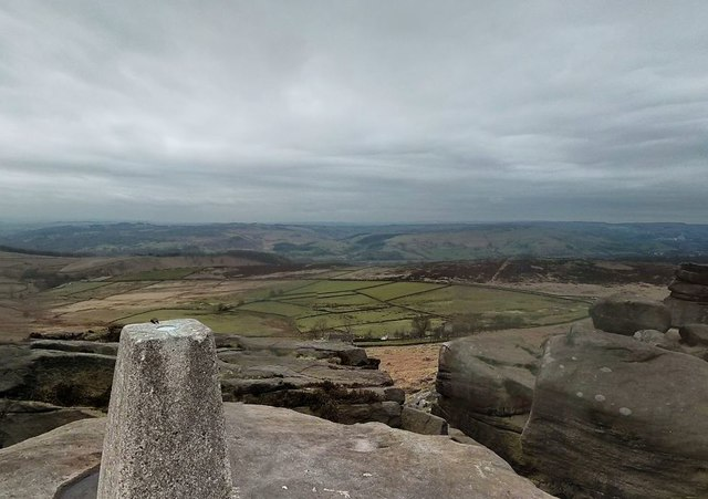 View from Stanage Edge Trigpoint