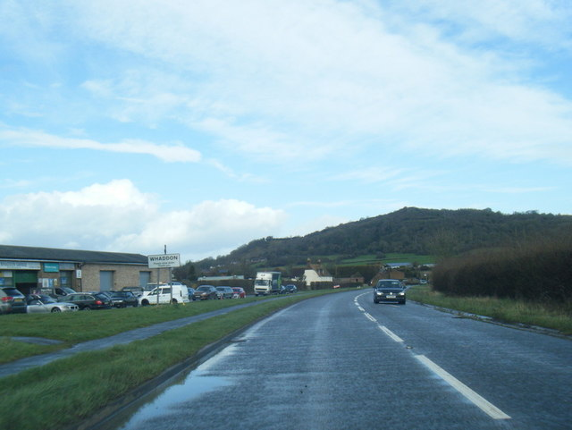 A4173 at Whaddon village boundary