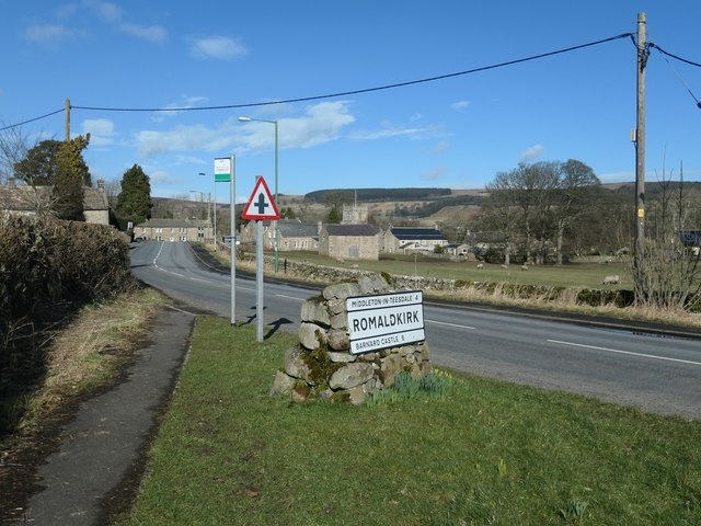 The B6277 entering Romaldkirk from the south