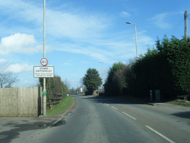 A38 at Down Hatherley village boundary
