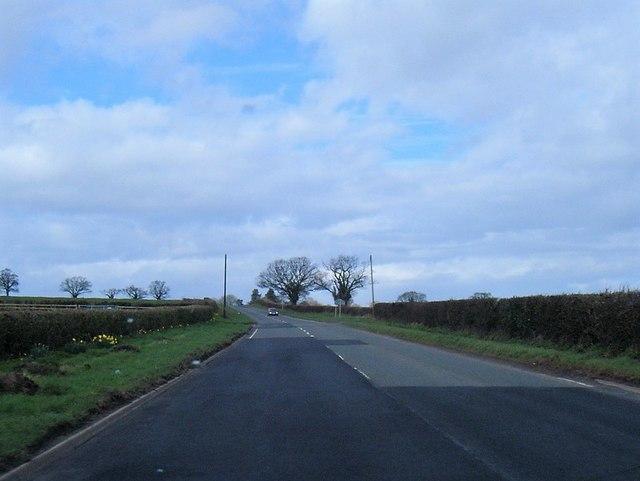 A38 near Hollybeds Farm