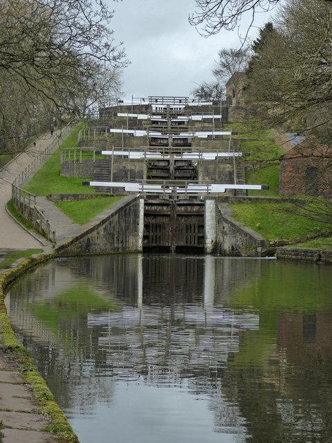 Leeds and Liverpool Canal - Bingley five-rise locks
