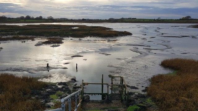 Kirby-le-Soken: Salt marsh and creeks north of Kirby Quay