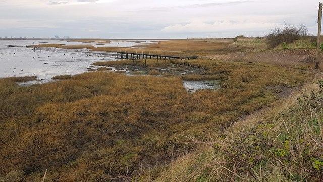 Kirby-le-Soken: Horsey Island boat landing stage