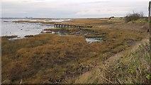 TM2322 : Kirby-le-Soken: Horsey Island boat landing stage by Nigel Cox