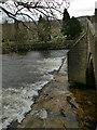 SE1148 : Ilkley old bridge, downstream cutwater by Stephen Craven