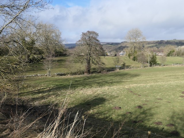 Fields on the western edge of Cotherstone
