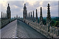 TL4458 : On the roof of King's College Chapel, Cambridge by Julian Paren