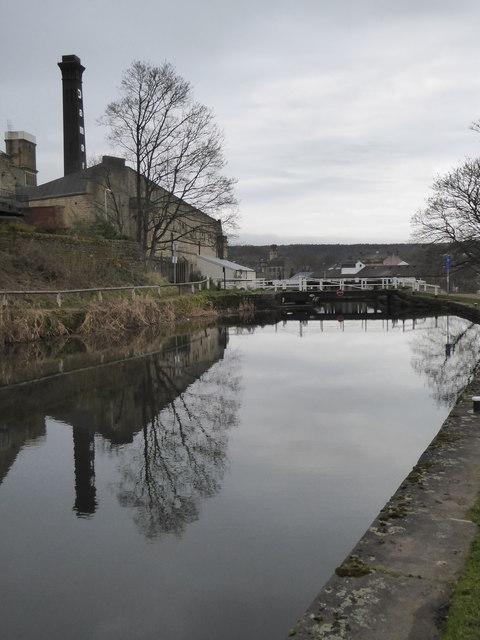Approaching Bingley three-rise locks