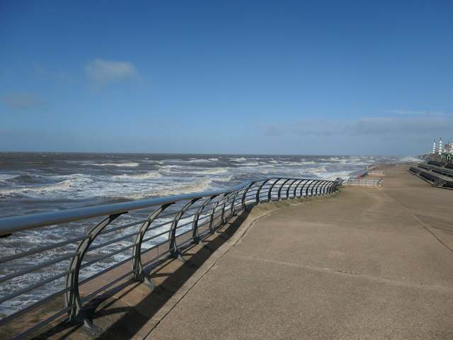Incoming tide, north of North Pier, Blackpool