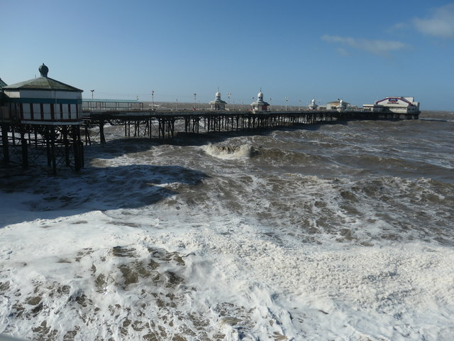 Rough sea at the North Pier, Blackpool