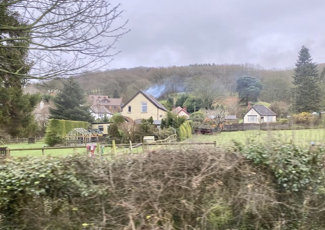 Housing on outskirts of Church Stretton